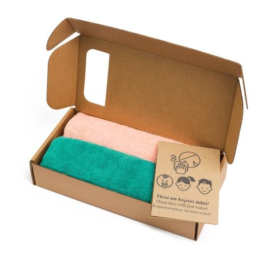 Greenwalk  šluostės makiažui ir kūnui valyti