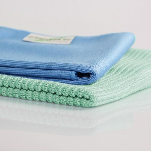 Greenwalk pažintinis rinkinys - šluostė stiklui bei universali mikropluošto šluostė