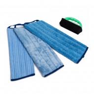 Greenwalk trijų grindų šluosčių rinkinys & guminis šepetys