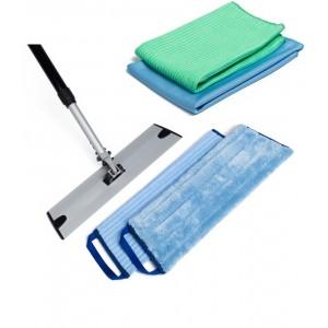 Greenwalk vidutinio dydžio grindų valymo rinkinys + dovana langų šluostė ir universali šluostė LUX
