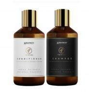 Šampūnas ir kondicionierius su žaliųjų ikrų ekstraktu ir nanosidabru